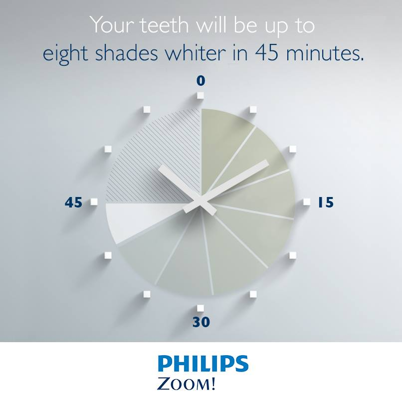 8 shades whiter teeth in 45 minutes